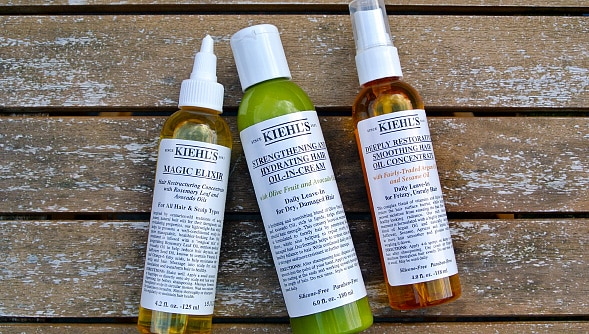 Kiehls Magic Elixir / Strengthening and Hydrating Hair Oil in Cream / Deeply Restorative Smoothing Hair Oil Concentrate