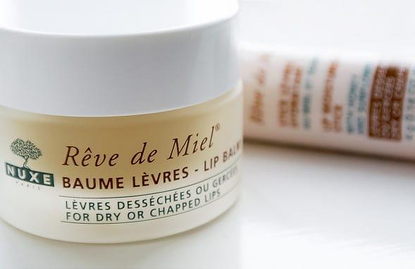 reve de miel balm both Nuxe Reve de Miel Ultra Nourishing Lip Balm / Lip Nourishing Stick