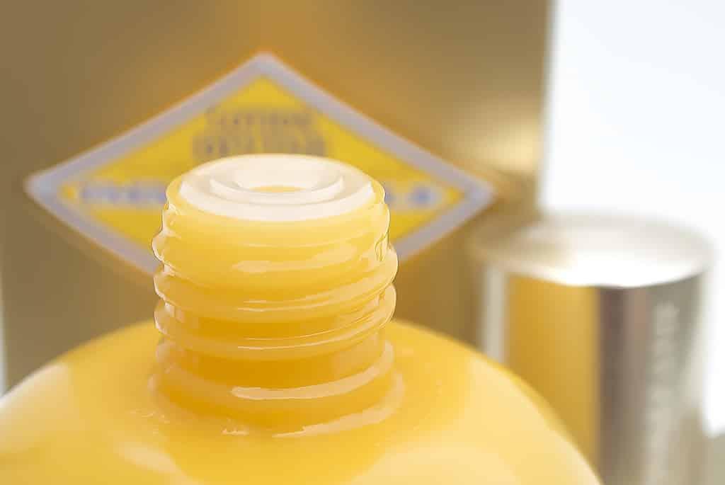 L'Occitane Divine Lotion Bottle Neck with Lid Off