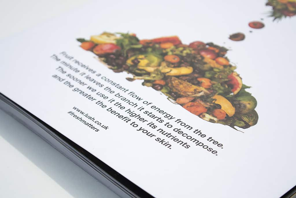 Lush Fresh Matters Post Booklet Cover Rotten Fruit