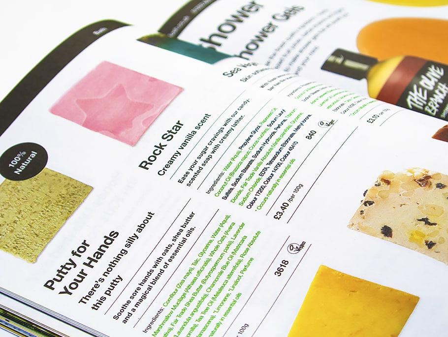Lush Fresh Matters Post Booklet Inside