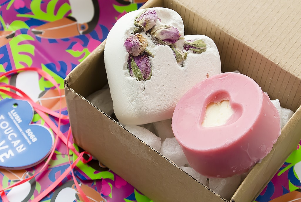 Lush Valentine's Day Toucan Love Gift Open