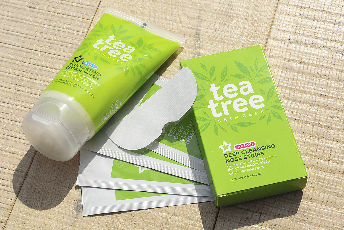 Superdrug-Tea-Tree-Skincare-Deep-Cleansing-Nose-Strips-and-Daily-Exfoliating-Cream-Wash