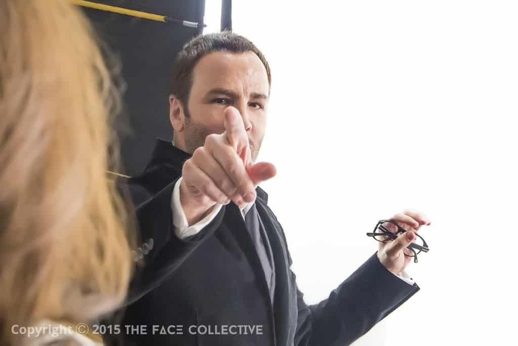 Tom Ford talking at the AW15 Fashion Preview