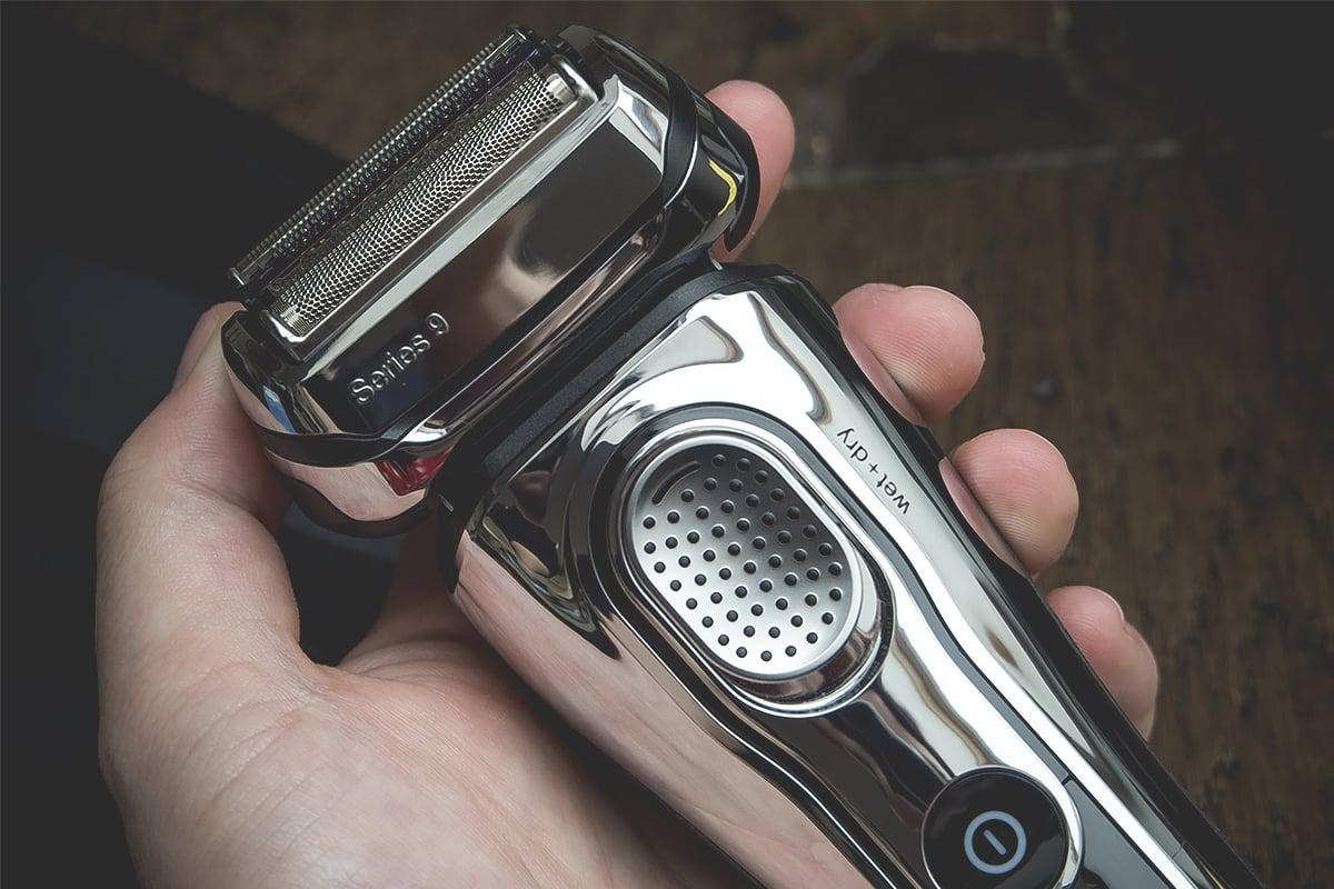 Braun Series 9 in hand with ergonomic design
