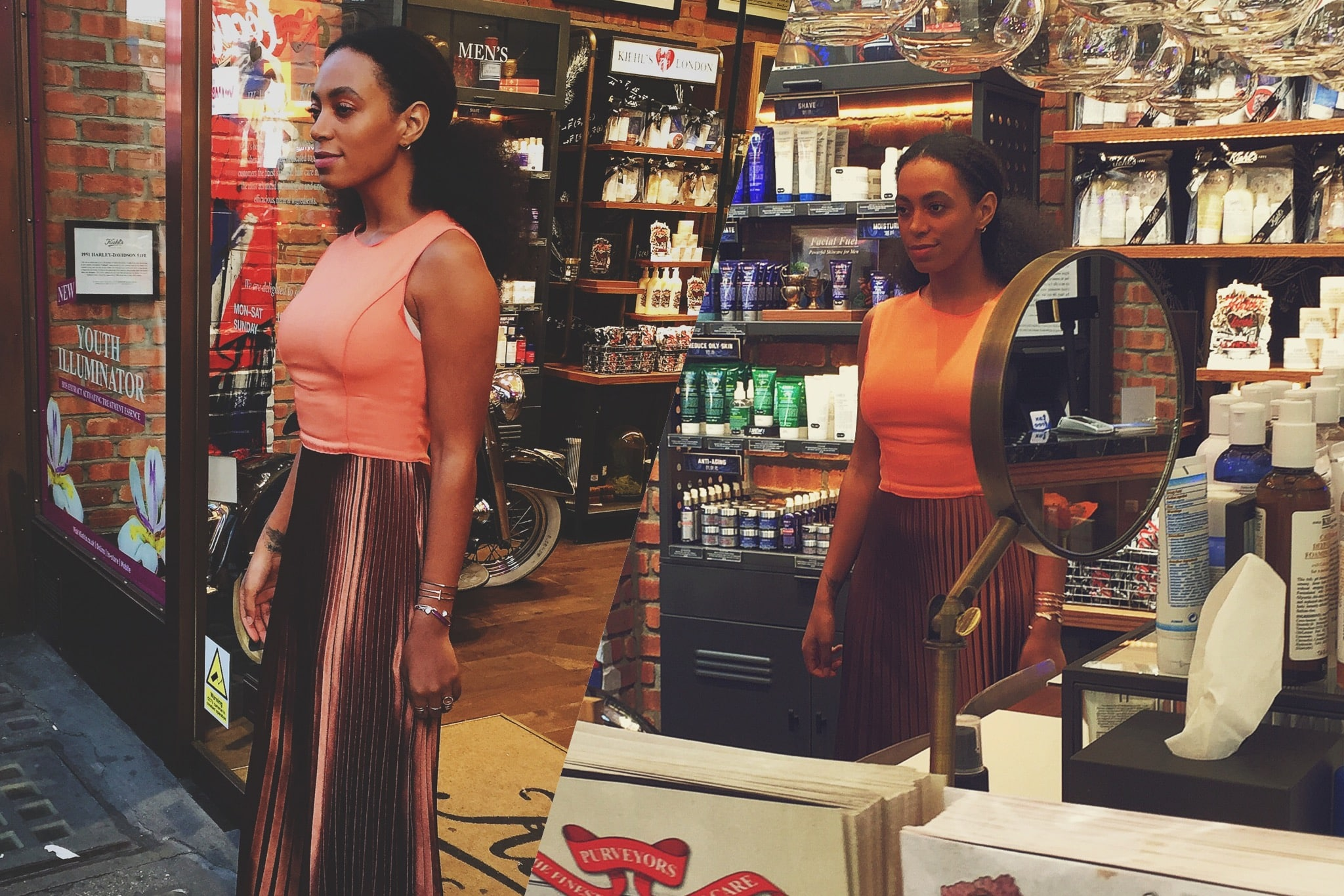 Solange arriving to the event!