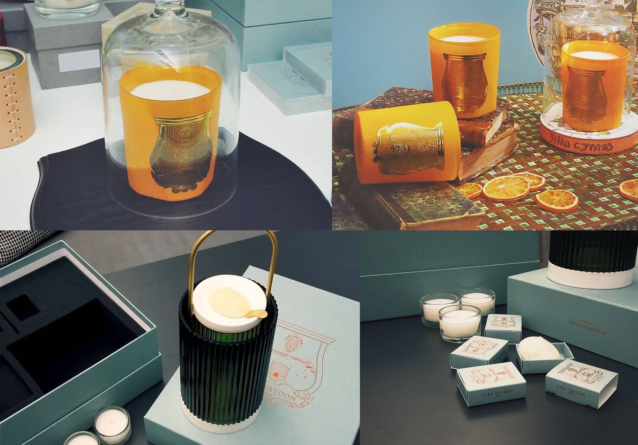 NEW Cyrnos Candle by Cire Trudon and La Promeneuse Wax Burner