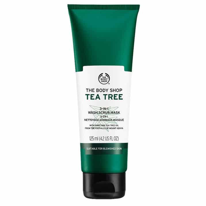 Tea Tree 3-in-1 Wash.Scrub.Mask. £8. The Body Shop.
